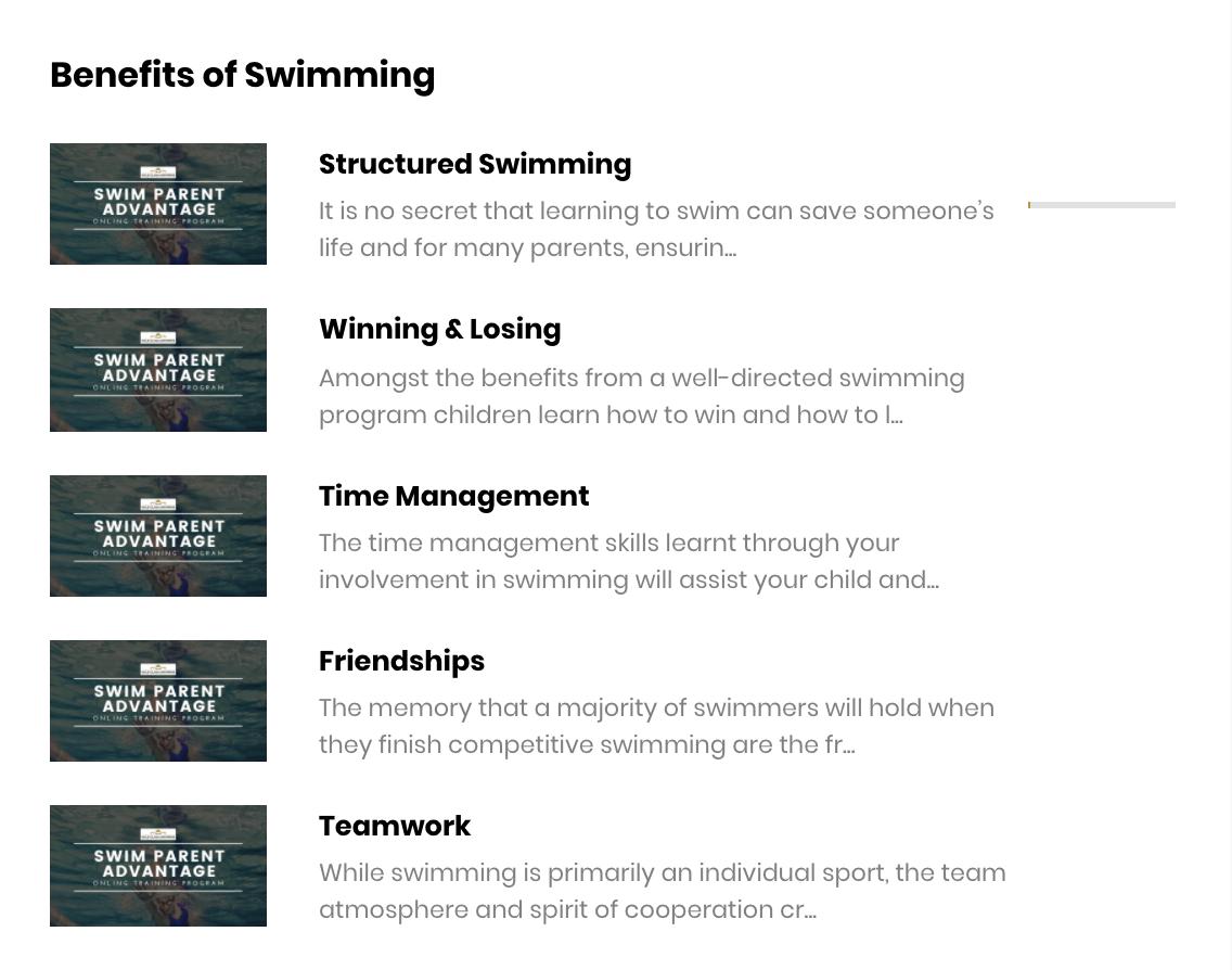 Swim Parent Advantage Course Preview 8